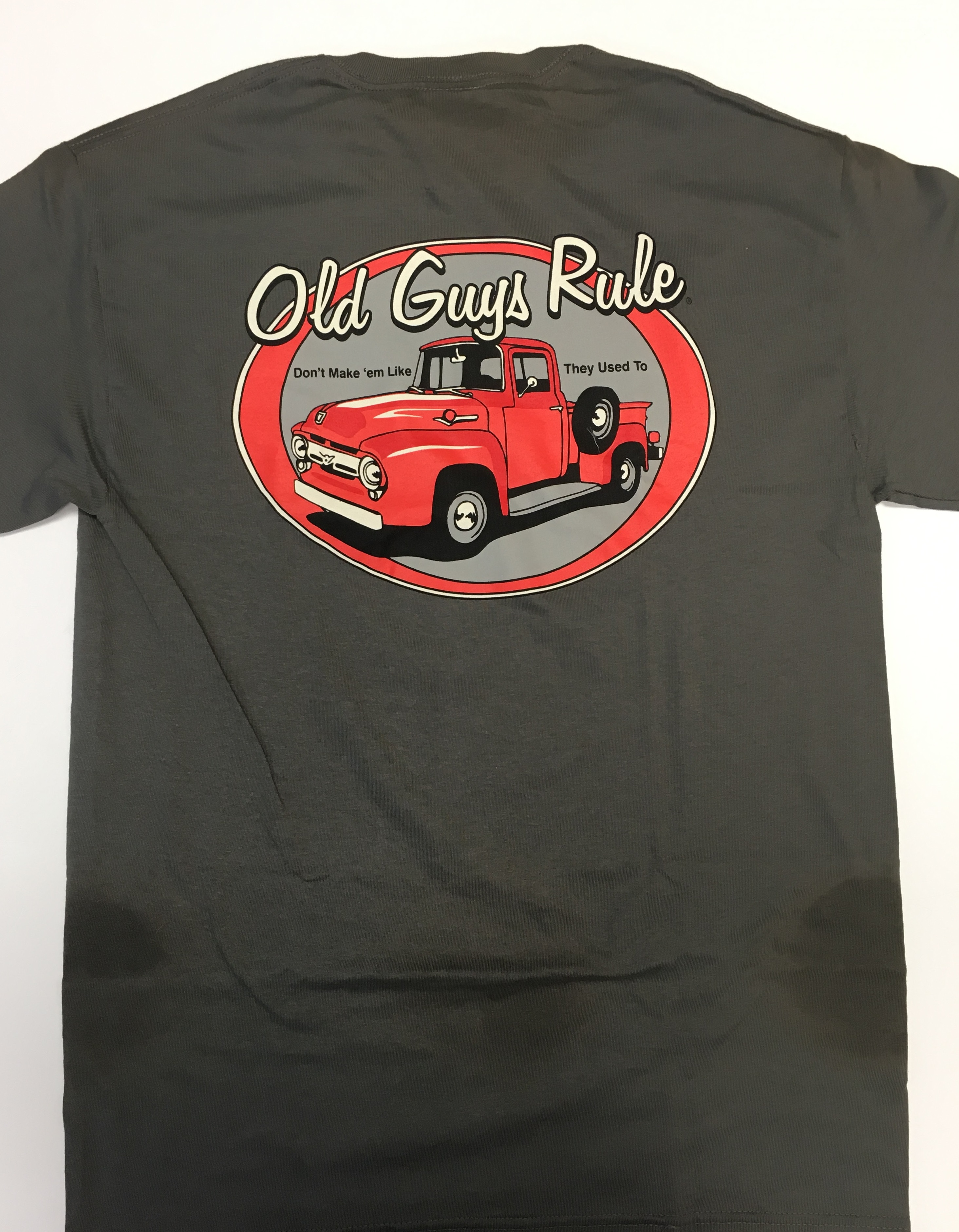 a500f34ca Old Guys Rule - Don't make em like they used to - T shirt - Charcoal ...