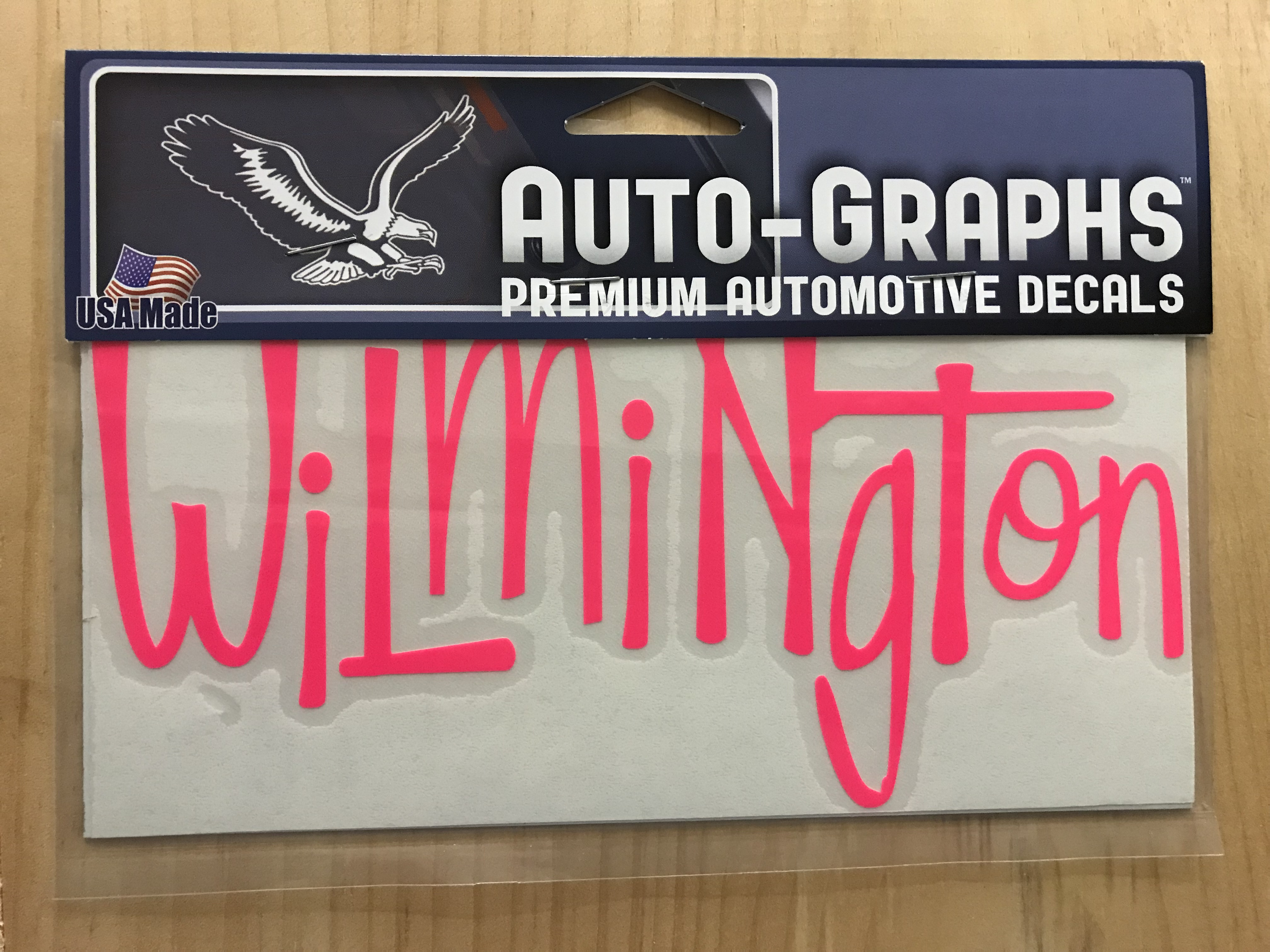 Wilmington Letters ( Hot Pink ) - Decal / Sticker - Krazy Mikez