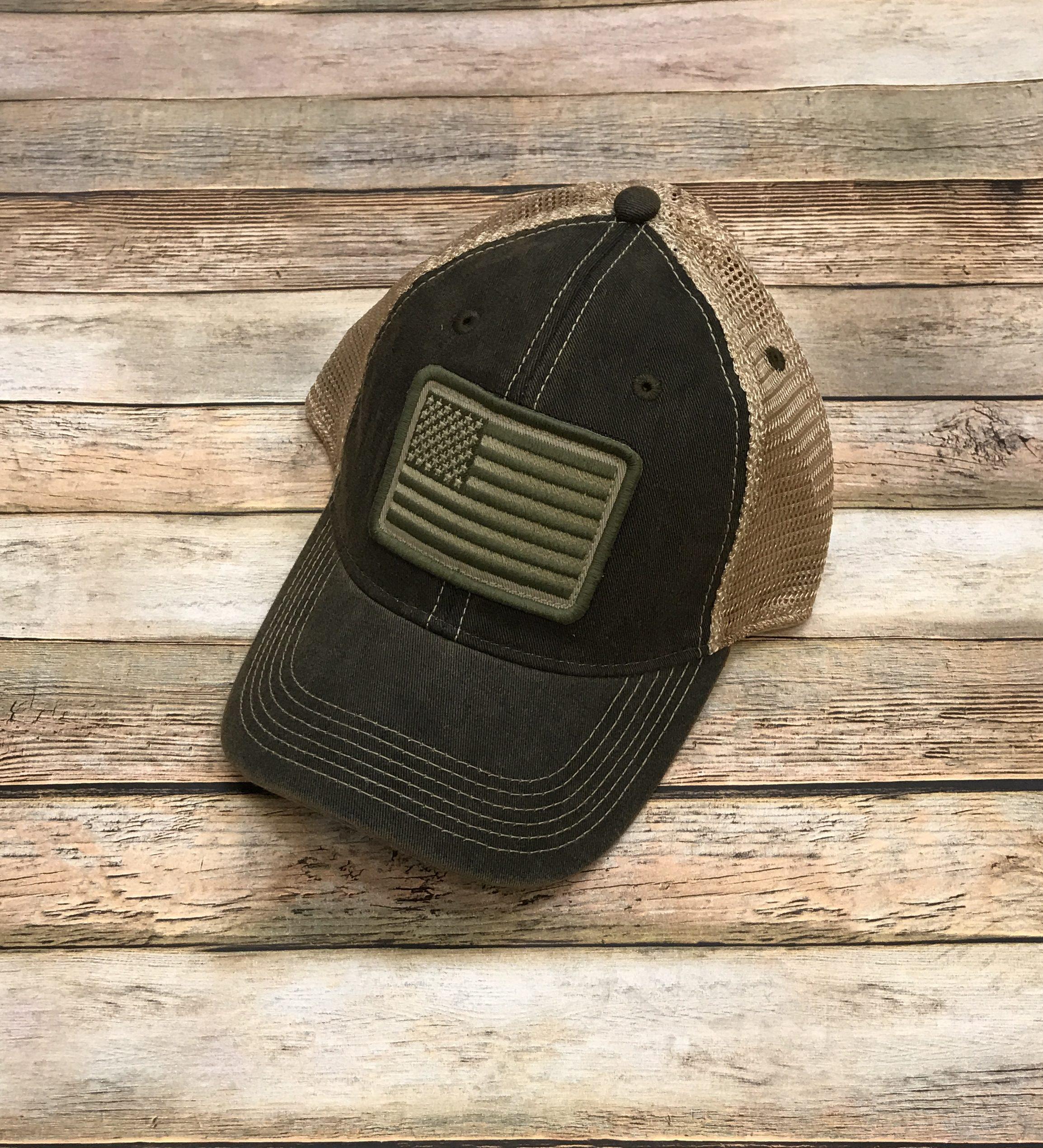 de94107dc96 Home   Hats   American Flag – Legacy OFA Trucker Hat – Vintage Black.  IMG 5310