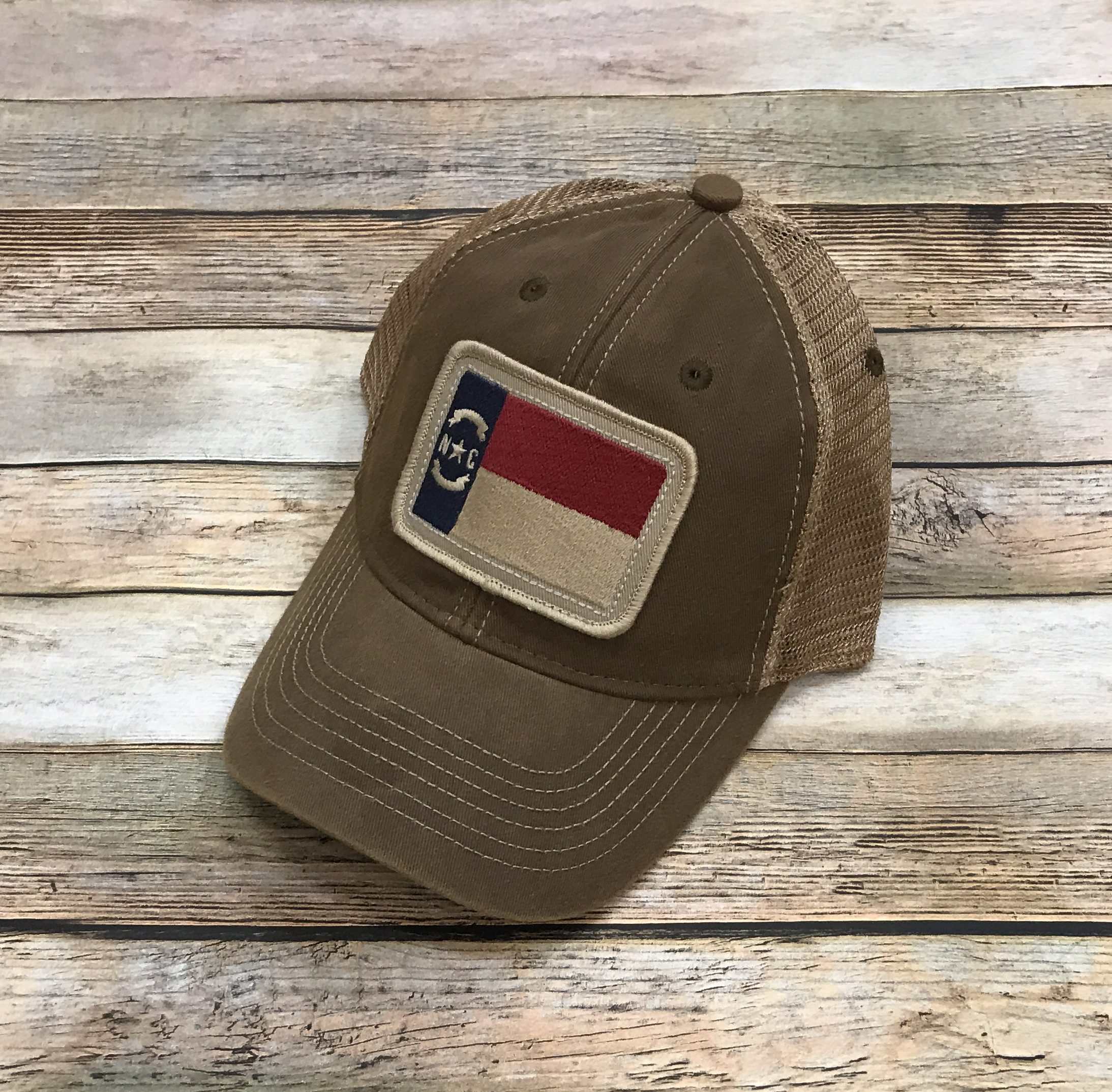 Home   Hats   NC Flag – Legacy OFA Trucker Hat – Vintage Brown. IMG 5331 c65f15c75dcb